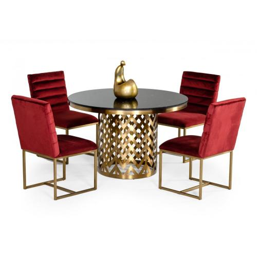 Modrest Kowal - Glam Black Marble Dining Table