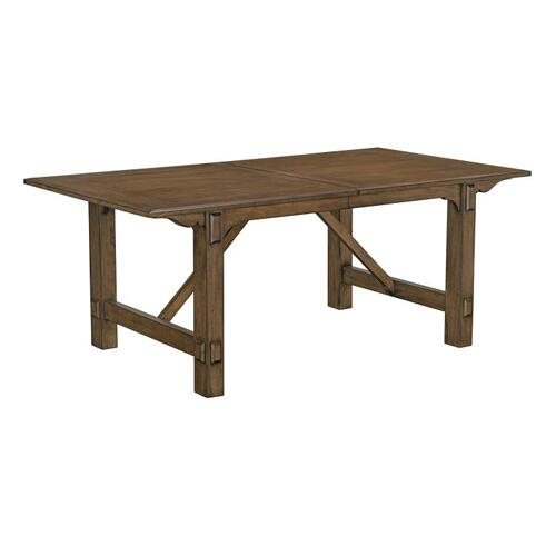 "Standard Furniture - Aspen Dining Table with 18"" Leaf, Walnut"