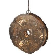 View Product - Tree Ring Metal Pendant. 40W Max.