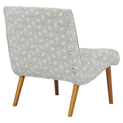 Alexis Fabric Chair Amber Legs, Geo Diamond