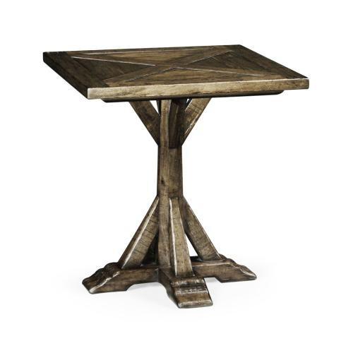Dark Driftwood Square Side Table