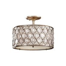 Lucia Medium Semi-Flush Mount Burnished Silver