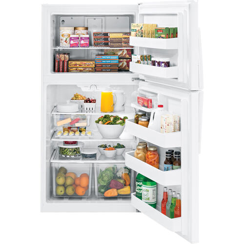 GE 21.2 cu.ft. Top Freezer Refrigerator White GTE21GTHWW