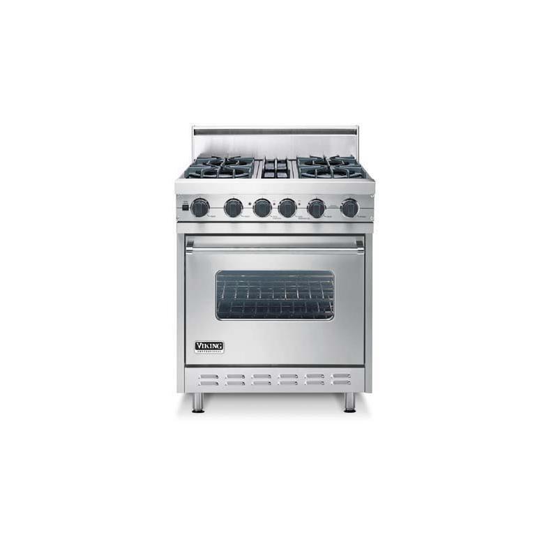 "Eggplant 30"" Open Burner, Dual Fuel Range - VDSC (30"" wide range with four burners, single oven)"