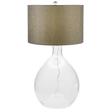 Oversized Bubble Glass Table Lamp. 150W Max. 3 Way Switch.