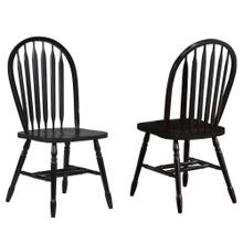 DLU-820-AB-2  Arrowback Dining Chair  Antique Black