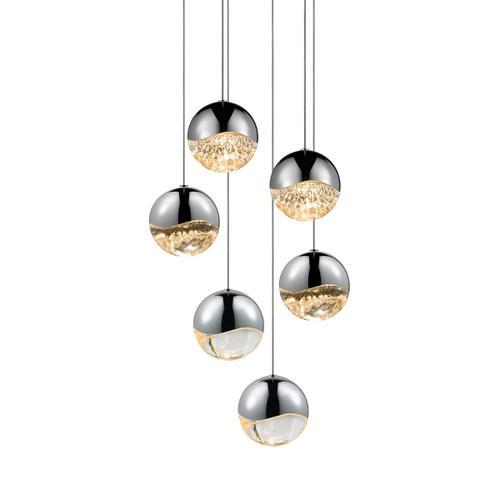 Sonneman - A Way of Light - Grapes® LED Pendant [Size=6-Light Large, Color/Finish=Polished Chrome, Shape=Round Canopy]