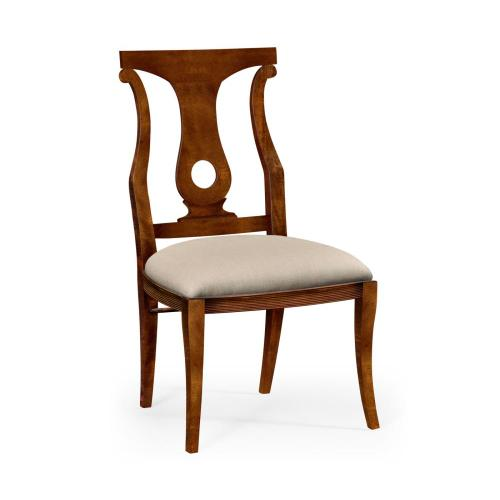 Mahogany Brown Lock Dining Side Chair
