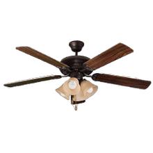 "4 Caliber -52"" 5 Blade RB Fan W/Tea Stained 4-Light Kit (4x9.5 LED 3000K)"