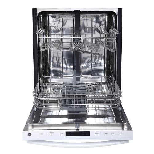"GE 24"" Built-In Top Control Dishwasher with Stainless Steel Tall Tub White - GBT632SGMWW"