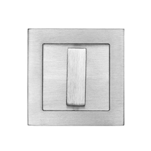 Square flush pull 65x65 with turn snib, Antique Brass Dark