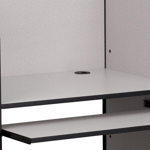 Product Image - Starter Study Carrel in Nebula Grey Finish