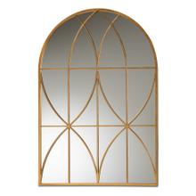 See Details - Baxton Studio Celerina Modern and Contemporary Gold Finished Metal Accent Wall Mirror