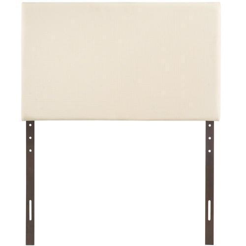 Region Twin Upholstered Fabric Headboard in Ivory