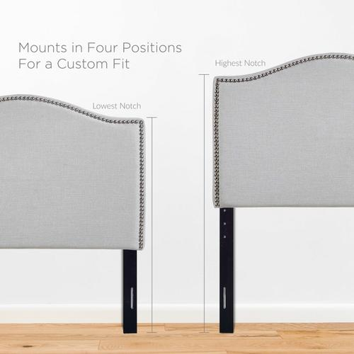 Modway - Curl Twin Nailhead Upholstered Headboard in Sky Gray