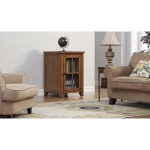 Bello - Dakota lower storage cabinet with Arts & Crafts styling features a universa...