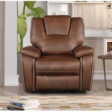 8083 BROWN Manual Recliner Air Leather Recliner