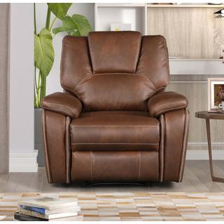 See Details - 8083 BROWN Manual Recliner Air Leather Recliner