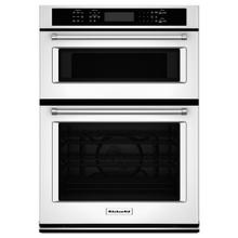 "KitchenAid® 30"" Combination Wall Oven with Even-Heat True Convection (Lower Oven) - White"
