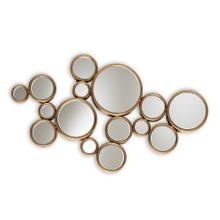 See Details - Baxton Studio Cassiopeia Modern and Contemporary Antique Gold Finished Bubble Accent Wall Mirror