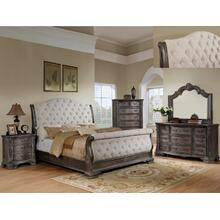 Sheffield Q Sleigh Bed Fb Antq Grey