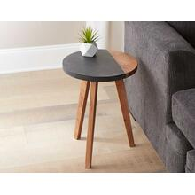 Caspian Round Accent End Table