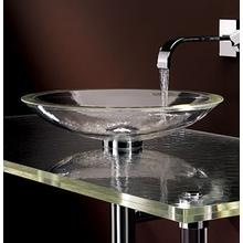 Freestanding ADA Large Round Glass Sink