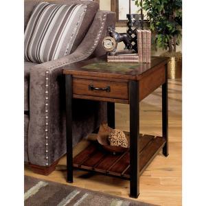 Null Furniture Inc - Cherry Slate Top Rectangular End w/Antique Bronze metal legs        (3013-05,52799)