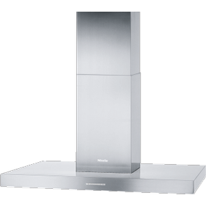 MielePUR 98 D - Island d(eback)cor hood with energy-efficient LED lighting and backlit controls for easy use.