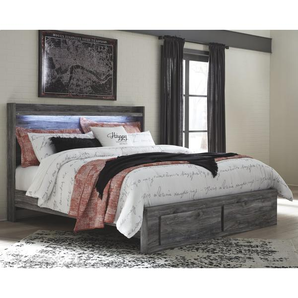 Baystorm King Panel Bed With 2 Storage Drawers