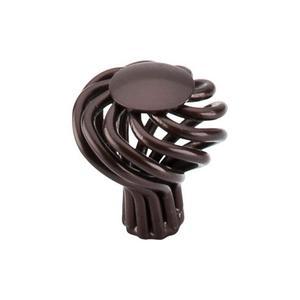 Top Knobs - Round Small Twist Knob 1 1/4 Inch Oil Rubbed Bronze