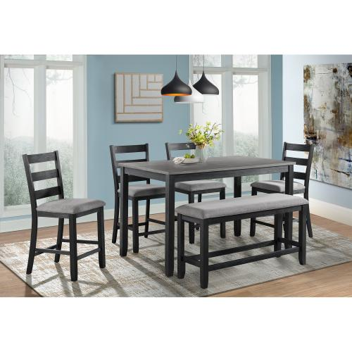 Martin Counter Height 6PC Dining Set-Table, Four Chairs & Bench