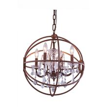 Geneva 5 light Rustic Intent Pendant Clear Royal Cut crystal