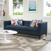 Serve Upholstered Fabric Sofa in Azure