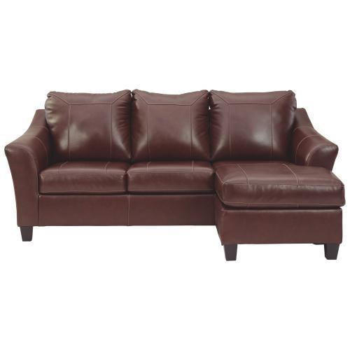 Fortney Sofa Chaise Mahogany