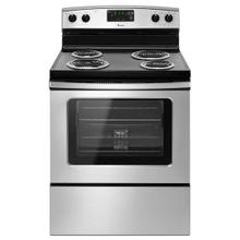 See Details - Amana® 30-in. Amana® Electric Range Oven with Storage Drawer - Black-on-Stainless