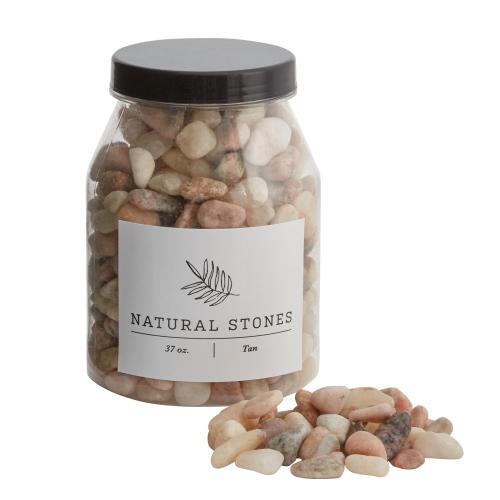 37 oz Tan Natural Stones