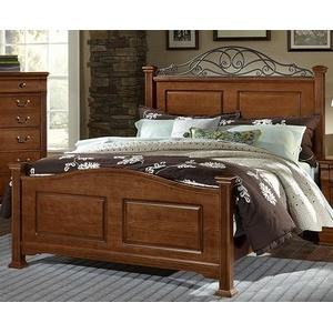 Arched Panel Bed w/ Metal Accents