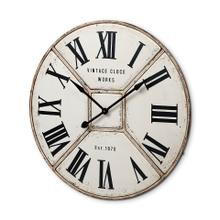 """See Details - Norwich 36.5"""" Round Industrial Wall Clock"""