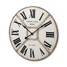 "Norwich 36.5"" Round Industrial Wall Clock"