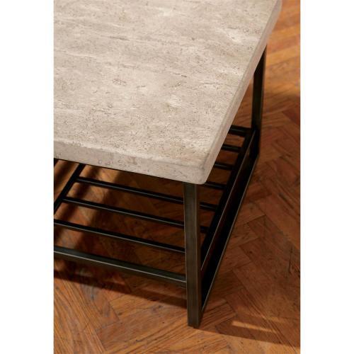 Riverside - Capri - Coffee Table - Alabaster Travertine Finish