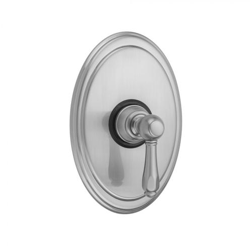 Polished Brass - Oval Plate With Smooth Lever Trim For Pressure Balance Cycling Valve (J-CSV)