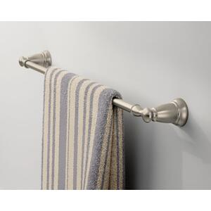 "Banbury brushed nickel 24"" towel bar"