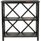 Lucas Low Etagere - Distressed Black Product Image