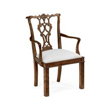 Chippendale style rococo quatrefoil chair (Arm)