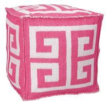 """Outdoor Pillow As555 Hot Pink 16"""" X 16"""" X 16"""" Pouf"""