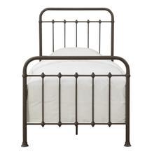 See Details - Curved Corner Metal Twin Bed in Brown