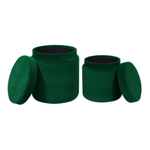 Product Image - Kris Green Storage Ottomans - Set of 2