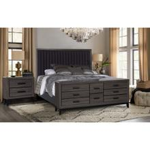 LAURA FOIL GREY/MARBLE BED W/CASE