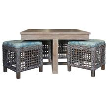 View Product - Hassock Table, Vintage Smoke Finish.